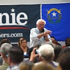 Bernie Sanders bashes Joe Biden, embraces Trump supporter during Nevada campaign stop