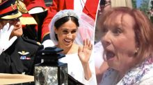 Meghan Markle recognises former drama teacher in royal wedding crowd