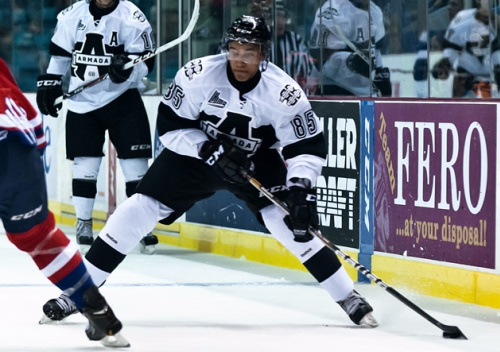 Blainville-Boisbriand defenceman Daniel Walcott (85) has seven points in 11 games so far in the 2013-14, the 19-year-old's first in the QMJHL. (Photo credit: Marc Grandmaison)
