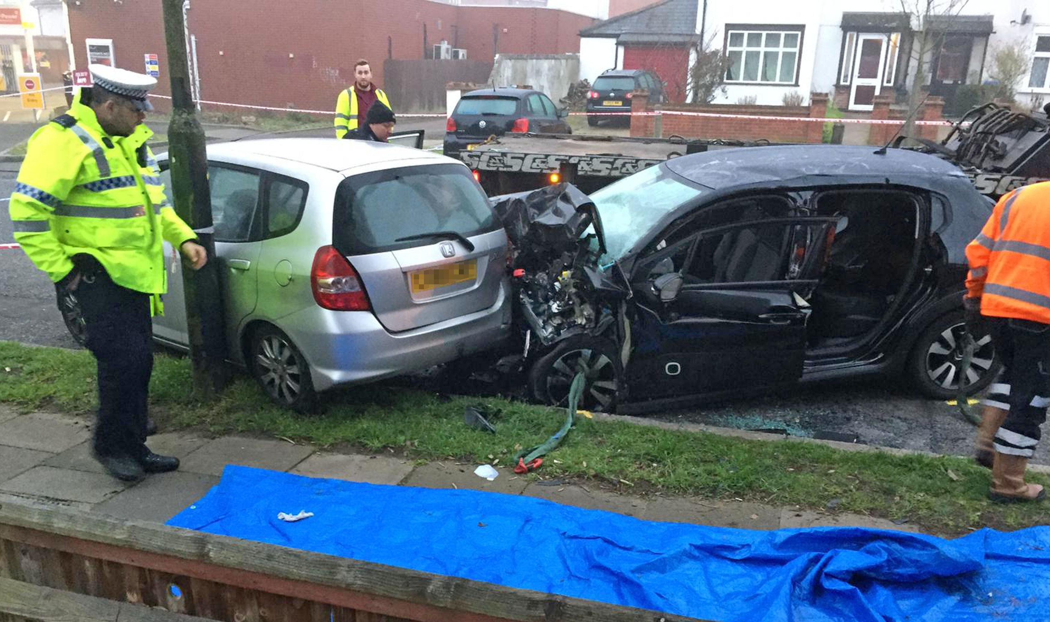 Image result for Man and woman in their 70s die after Van in Police Chase hits their Car in London