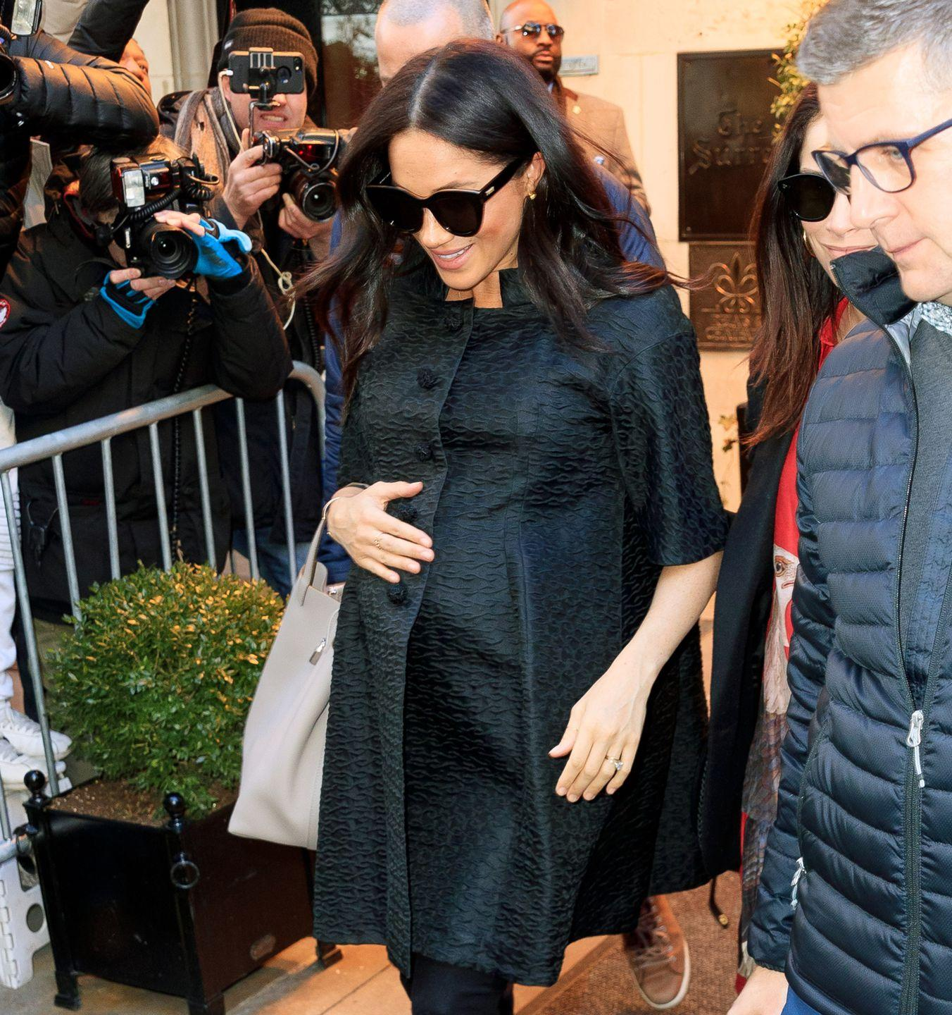 Meghan Markle Steps Out In NYC In A Victoria Beckham Coat