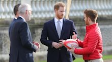 Prince Harry pictured at first public engagement since royal exit announcement