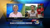 Search continues for missing river swimmer