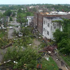 Drone Video Shows Homes and Trees Damaged by Missouri Tornado