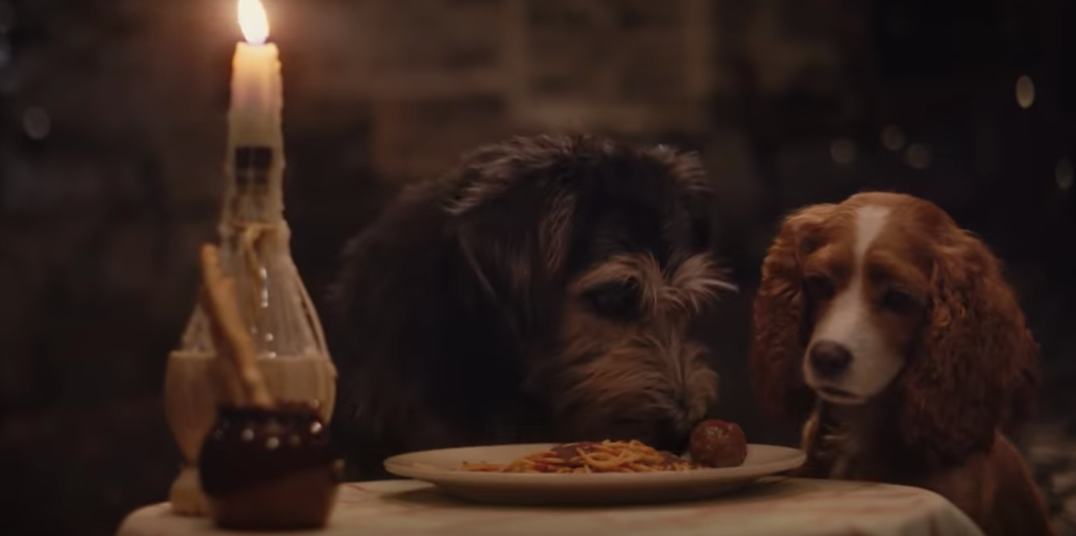 Watch Dogs Fall in Love Over Spaghetti in New 'Lady and the Tramp' Trailer