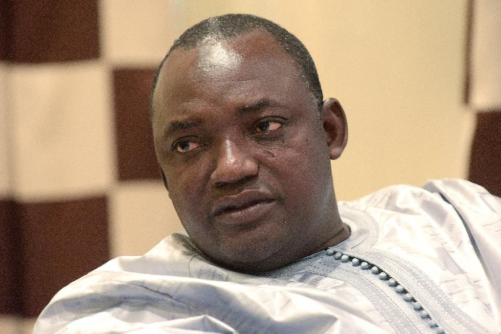 Gambian president-elect Adama Barrow speaks during an interview in Banjul on December 12, 2016