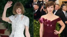 Anna Wintour Praises Scarlett Johansson's Decision to Wear Marchesa to the Met Gala