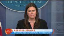 White House Press Secretary kicked out of restaurant