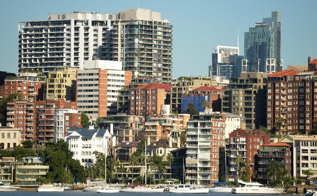 Sydney (pictured) is ranked only second to Hong Kong as major cities with the world's least-affordable housing (AFP Photo/Peter Parks)