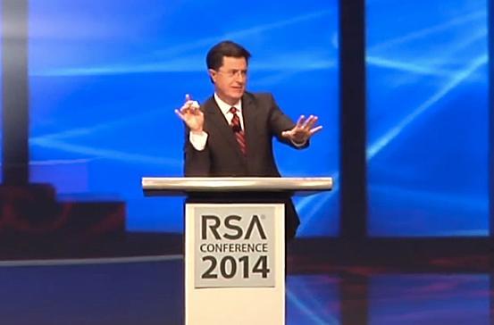 Stephen Colbert explains Cloud Fog: 'part cloud, part fog, all security'