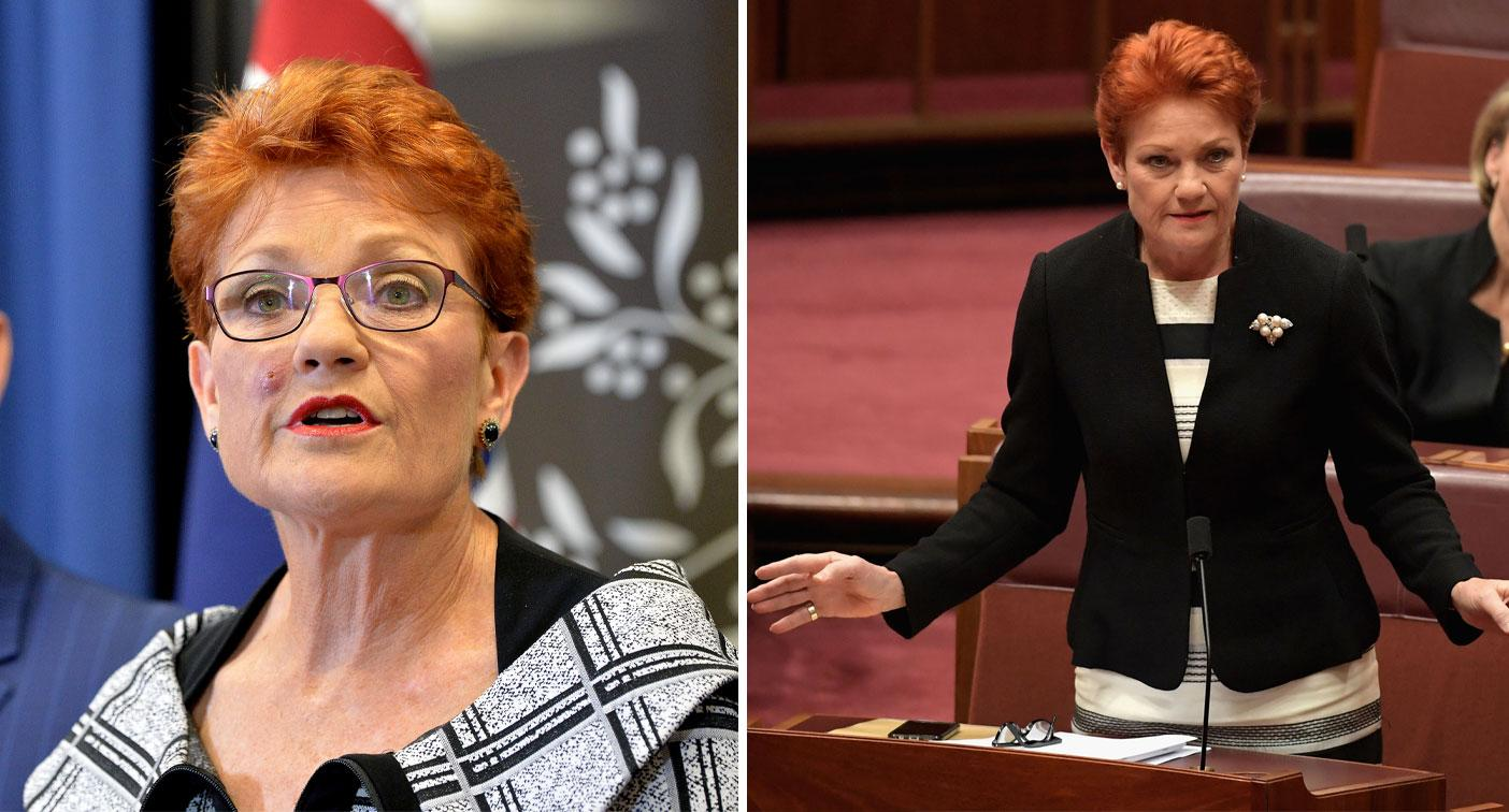 Pauline Hanson mocked after 'anti-white racism' claim