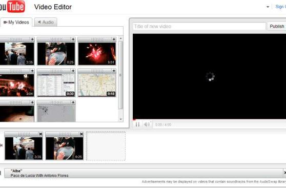YouTube Editor enables cloud-based combining of clips, trimming of masterpieces