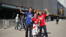 Fans enjoy Stockholm sunshine ahead of Europa final
