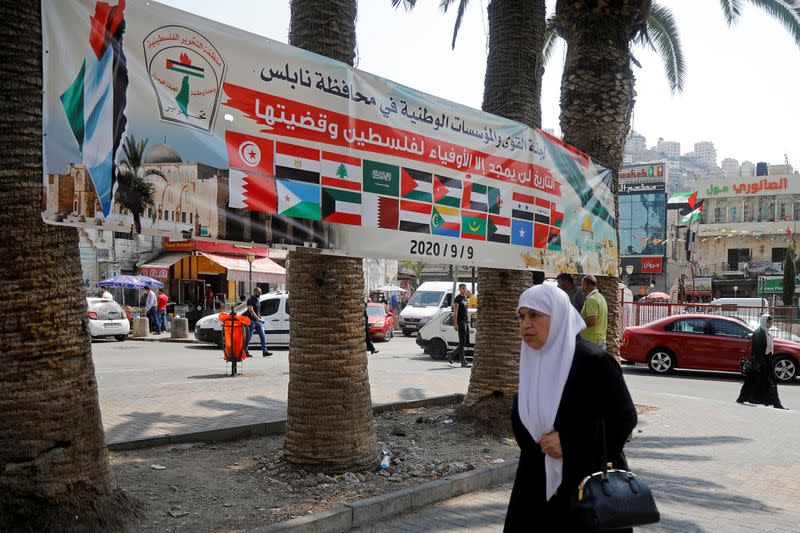 Palestinians protest against normalizing ties with Israel as Arab foreign ministers meet