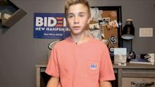 'Members of the same club.' Brayden Harrington, 13, describes Joe Biden helping him with his stutter