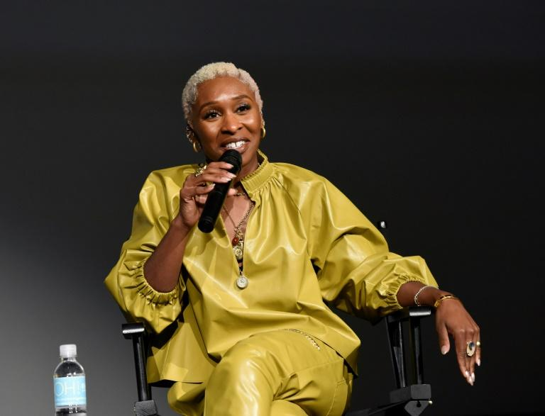 "British star Cynthia Erivo, who plays US anti-slavery icon Harriet Tubman in ""Harriet,"" was the only non-white acting nominee (AFP Photo/Vivien Killilea)"