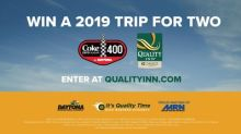 Quality Inn Revs Up with NASCAR Fan Giveaway to the 2019 Coke Zero Sugar 400