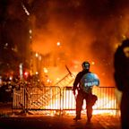 Buildings Set On Fire Near White House As George Floyd Protests Continue