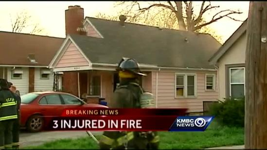 KC house fire leaves 3 injured