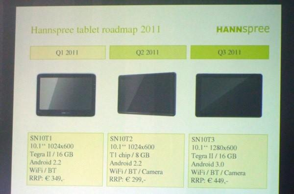 Hannspree SN10T1 tablet hits Europe, SN10T2 and SN10T3 to follow later this year