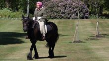 New Photos of Queen Elizabeth Show Her Horseback Riding Like a Boss in Windsor
