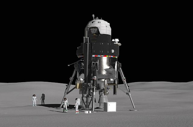 Lockheed's concept moon lander can carry four astronauts