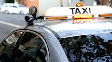 Driver's scare in taxi after returning home