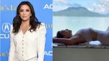 Eva Longoria breaks a sweat in $83 sports bra and $104 leggings from celeb-favourite brand Alo Yoga