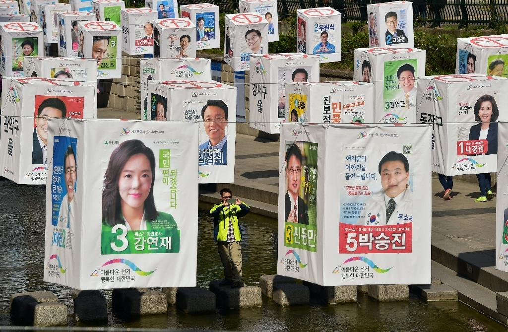 South Koreans go to the polls on Wednesday in a general election already overshadowed by North Korean nuclear threats and economic difficulties