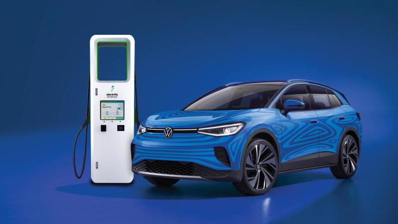 2021 volkswagen id4 to come with 3 years free charging