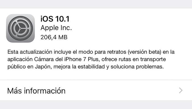 iOS 10.1 llega con el modo retrato para el iPhone 7 Plus