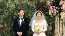 宋慧喬典雅地出嫁 王妃淑女都是穿長袖婚紗的!