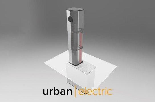 Pop-up EV charger disappears when it's not being used