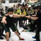 Hong Kong leader condemns 'rioters' after violent mall clash