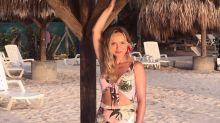 Uau! Eliana exibe boa forma no Caribe