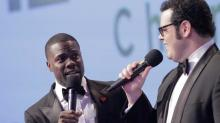 Watch Kevin Hart and Josh Gad Crash a Real-Life Wedding (Exclusive Video)