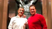 ¡Schwarzenegger y Stallone pasaron la Navidad juntos!