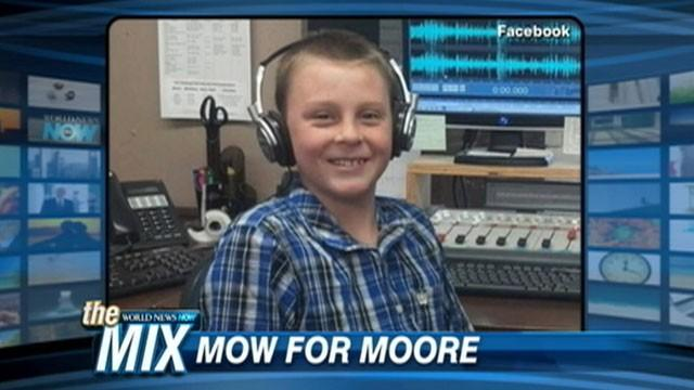 Boy Mows Lawns, Raises $16K for Tornado Victims