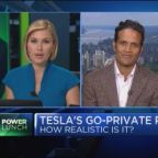 Tesla stock pricing in zero probability of going private:...
