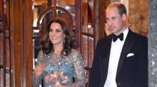 The Duchess of Cambridge dazzles in a bejewelled Jenny Packham gown at the Royal Variety Performance