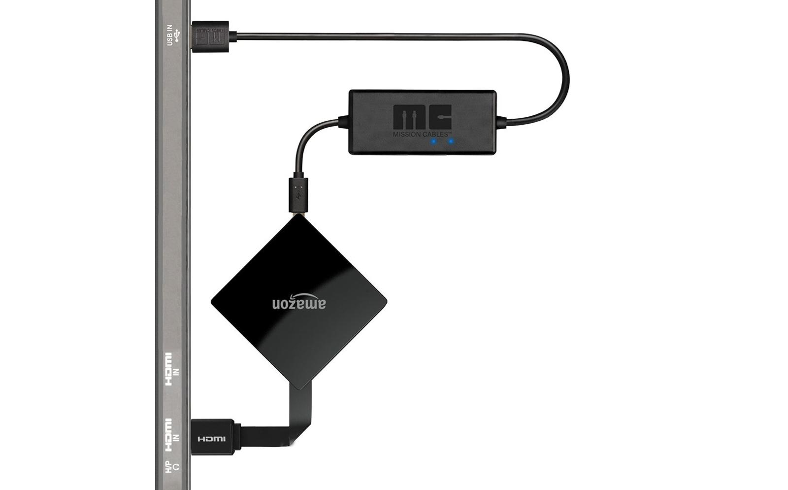 NEW For AC Adapter USB Power Stick Mission Cables For Amazon Fire TV Don/'t Need