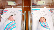 Bebês chamados Romeu e Julieta nascem com horas de diferença em quartos de hospital vizinhos um do outro