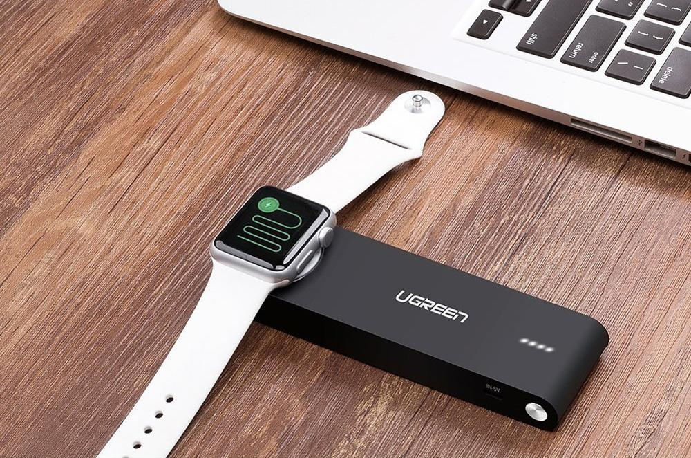 amazon has a portable battery that can charge your iphone and wirelessly charge your apple watch. Black Bedroom Furniture Sets. Home Design Ideas