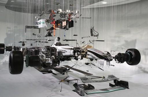Visualized: Schumacher's F1 racing Mercedes, exploded drawing style