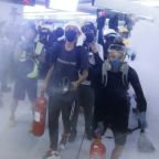 Hong Kong protesters clash with police, angry at lack of prosecutions after subway mob attack