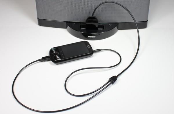 dockBoss+ adapter brings iOS speaker dock compatibility to Android, BlackBerry and WP7 handsets*