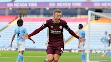 Jamie Vardy scores hat-trick as Leicester run riot against offbeat Man City