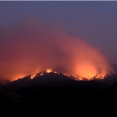 A deadly wildfire in Central California has destroyed 34 homes and forced 350 people to evacuate