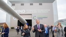 GE's Culp makes rare appearance in Charlestown to welcome wind turbine blade