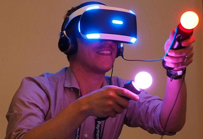 Using the PlayStation 4's new version of Project Morpheus